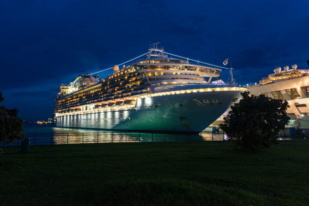 Sapphire Princess in Singapore - Repositioning Cruise from Hong Kong