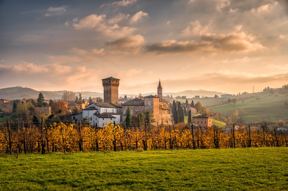 Sunset over Levizzano Castle, Modena Italy